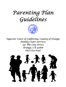 Recommended Parenting Plan Guidelines for California
