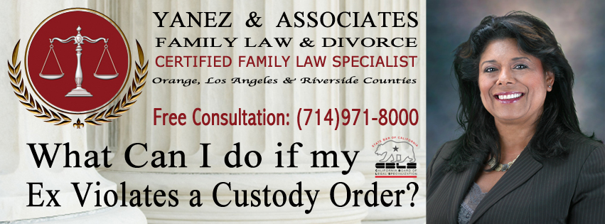 What Can I do if my Ex Violates a Custody Order